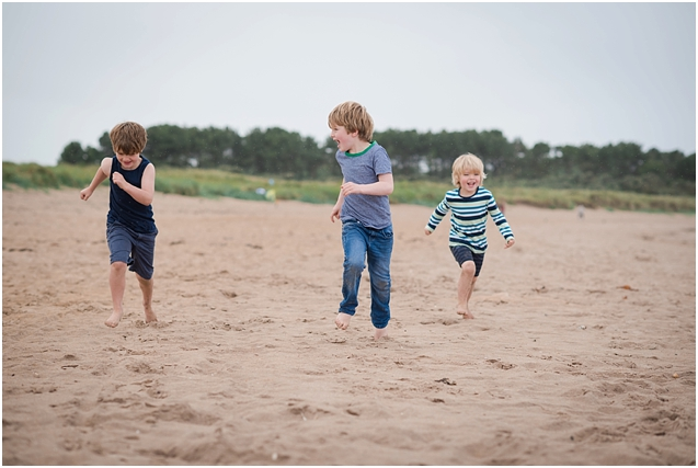 The Murray family – Yellowcraig beach