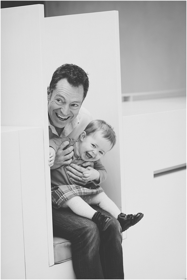 Peek a boo! A favourite from a lovely family session at the Museum of Scotland in December.