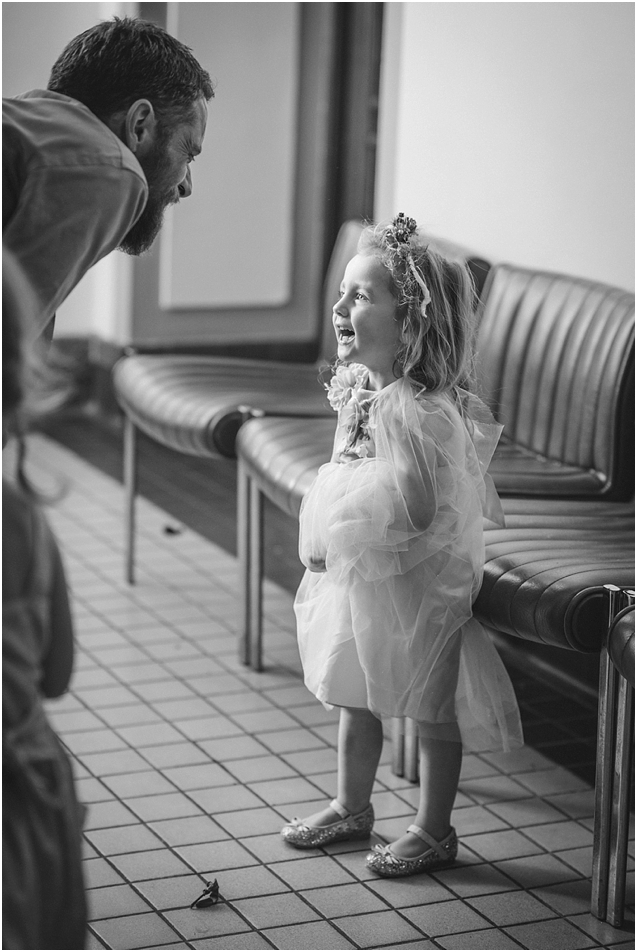 Love this sweet moment with the cutest flower girl !