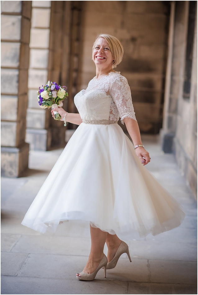 I had great fun at this wedding. Cathy looked amazing in her fabulous dress and spent the entire proceedings grinning from ear to ear !