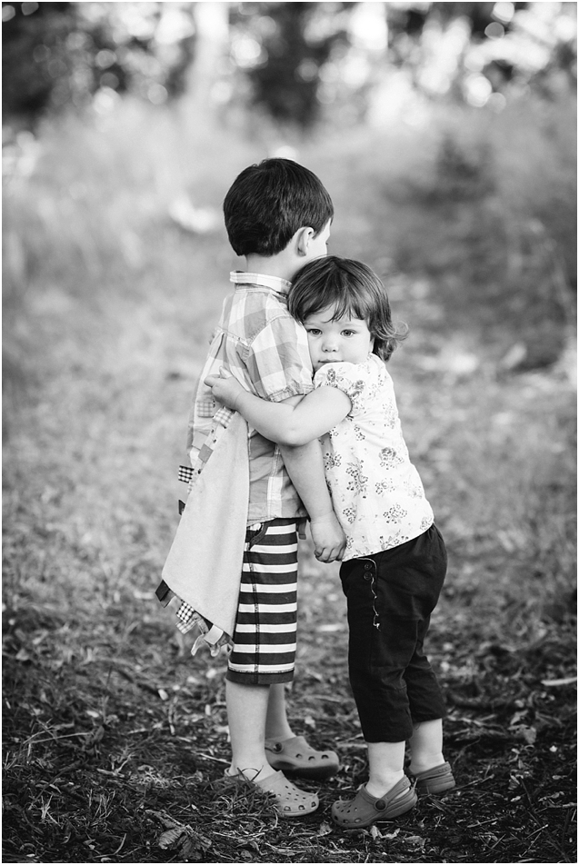 I really love this shot. There's just something really sweet about that unreciprocated hug!