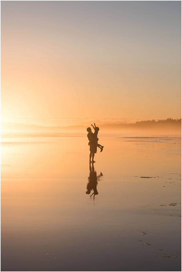 We were lucky enough to find ourselves on this incredible beach on Vancouver Island at sunset with the most amazing light.