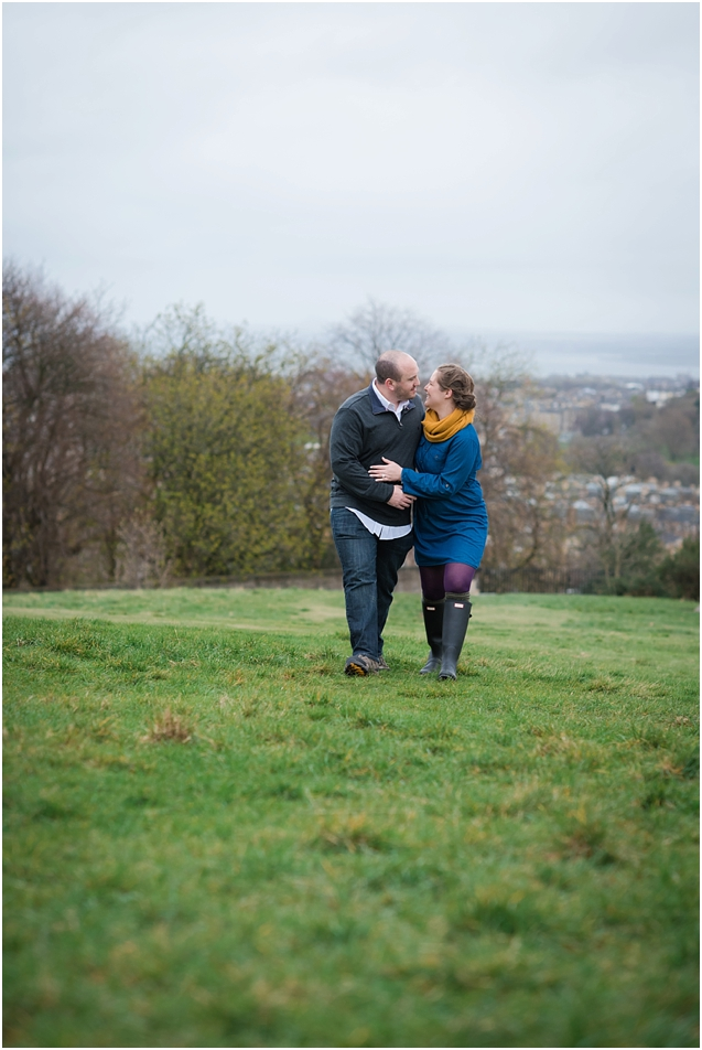 Couples shoot at Calton Hill Edinburgh