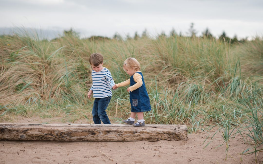 Euan & Anna at Yellowcraig beach