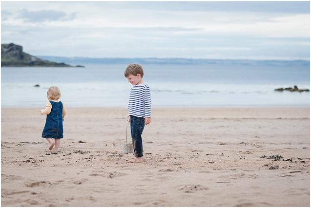 Euan & Anna at Yellowcraig beach